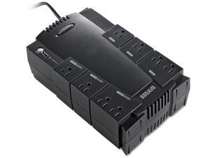Compucessory 25652 UPS Backup System w/ AVR 8 Outlets 685VA 390W 6' Cor