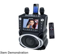 "Karaoke USA GF830 DVD/CDG Karaoke Player with SD Slot MP3G, Bluetooth, 7"" TFT Color Screen & Recording 300 Songs Included!"