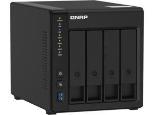 QNAP TS-451D2-4G 4 Bay 4K NAS withIntel Celeron J4025 dual-core 2.0 GHz processor (Burst up to 2.9 GHz), 4 GB DDR4 memory (1 x 4 GB) and HDMI Output