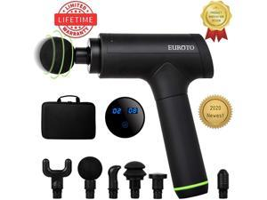 [EUROTO 2020] Massage Gun Physiotherapy Muscle strain, Deep Tissue Percussion Muscle, Handheld, Electric Body Fascia Massager, Sports Drill, Portable, Brushless Motor, Plus Limited Lifetime Warranty