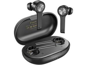 Letsfit T13 Bluetooth 5.0 True Wireless Earbuds with Charging Case (Black)