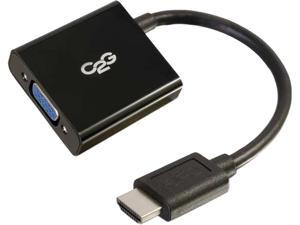C2g 8In Hdmi To Vga Adapter Converter Dongle - Black