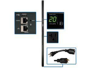 Tripp Lite - PDUMV20NETLX - Tripp Lite PDU Switched 1.9kW 120V 24 5-15/20R 20A LX Platform 0URM TAA - Switched - NEMA