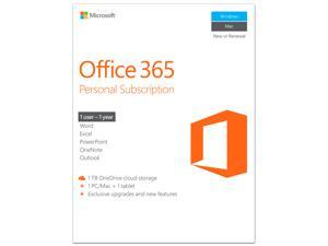Deals on Microsoft Office 365 Personal 1-year Subscription PC/Mac