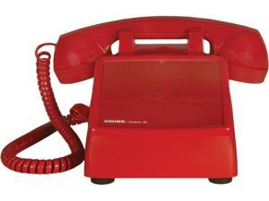 Viking No Dial Desk Phone, Red VK-K-1500P-D