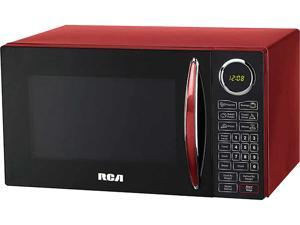 RCA 0.9 cu. ft. Red Microwave