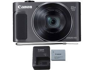 Canon Powershot SX620 HS Digital Camera Black with Software Photo Editing Kit