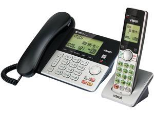 VTech CS6949 DECT 6.0 Expandable Corded/Cordless Answering System, Silver/Black