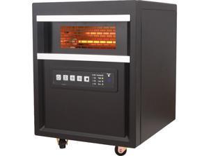 WORLD MARKETING QDE1345 RC Infrared Quartz Heater Blk