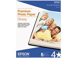 "Epson S041667 Premium Photo Paper Letter - 8.50"" x 11"" - High Gloss - 92 Brightness - 50 / Pack - White"