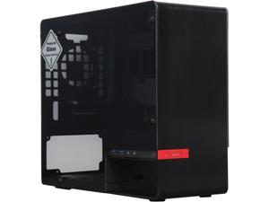 IN WIN 901 Black Aluminum / Tempered Glass Mini-ITX Tower Computer Case Compatible with ATX PS2 / EPS 12V PSU Power Supply