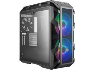 Cooler Master MasterCase H500M ATX Mid-Tower w/ 4x Side Tempered Glass Panels, Type-C I/O Panel, 2x Vertical GPU Card PCI Slots & 2x 200mm ARGB Fans w/ARGB Controller
