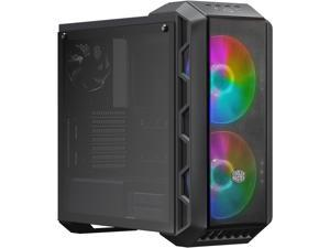 Cooler Master MasterCase H500 ARGB Airflow ATX Mid-Tower with Mesh & Transparent Front Panel Option, 2 x 200mm ARGB Fans, and a Tempered Glass Side Panel, MCM-H500-IGNN-S01