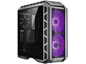 Cooler Master MasterCase H500P Mesh ARGB Airflow ATX Mid-Tower with Dual 200mm ARGB Fans, Gun Metal, Mesh Front Panel, Tempered Glass Side Panel & ARGB Lighting System