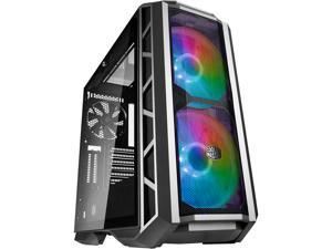 Cooler Master MasterCase H500P Mesh Gun ARGB Airflow ATX Mid-Tower with Dual 200mm ARGB Lighting Fans, Mesh Front Panel, and Tempered Glass Side Panel