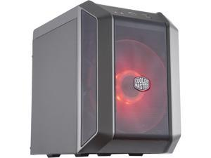 Cooler Master MasterCase H100 Mini-ITX Case w/ 200mm RGB Fan, Mesh Front Panel, Built-In Handle & USB 3.2 Gen 1 (USB 3.0)