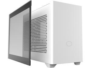 Cooler Master MasterBox NR200P White SFF Small Form Factor Mini-ITX Case with Tempered glass or Vented Panel Option, PCI Riser Cable, Triple-slot GPU, Tool-Free and 360 Degree Accessibility