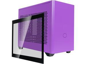 Cooler Master MasterBox NR200P Nightshade Purple SFF Small Form Factor Mini-ITX Case w/ Tempered Glass or Vented Panel Option, PCI Riser Cable, Triple-slot GPU, Tool-Free and 360 Degree Accessibility