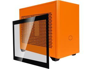 Cooler Master MasterBox NR200P Sunset Orange SFF Small Form Factor Mini-ITX Case w/ Tempered Glass or Vented Panel Option, PCI Riser Cable, Triple-slot GPU, Tool-Free and 360 Degree Accessibility