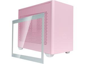 Cooler Master MasterBox NR200P Flamingo Pink SFF Small Form Factor Mini-ITX Case w/ Tempered Glass or Vented Panel Option, PCI Riser Cable, Triple-slot GPU, Tool-Free and 360 Degree Accessibility