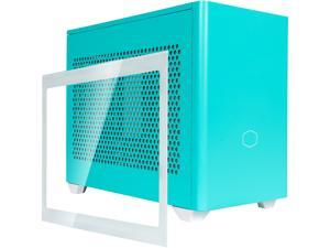 Cooler Master MasterBox NR200P Caribbean Blue SFF Small Form Factor Mini-ITX Case w/ Tempered Glass or Vented Panel Option, PCI Riser Cable, Triple-slot GPU, Tool-Free and 360 Degree Accessibility
