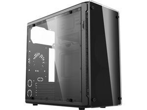HEC HX210 Black 0.45mm Thickness SECC Micro ATX Mini Tower Computer Case with 80mm Rear Fan