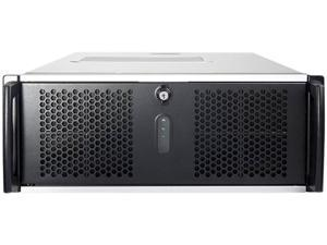 CHENBRO RM41300-F1 Black 1.2mm SGCC, ABS-HB 4U Rackmount No Power Supply 4U Open-bay Rackmount Server Chassis w/ 1x Door
