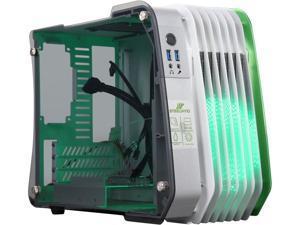 Enermax STEELWING Green LED Aluminum / Tempered Glass Micro ATX / Mini-ITX Computer Case - ECB2010G