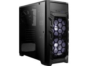 Antec Gaming New Vision GX202White Black SPCC & Plastic ATX Mid Tower Entry-Level Mid Tower Gaming Case