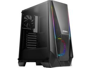Antec NX Series NX310, Mid Tower ATX Gaming Case, Tempered Glass Side Panel & ARGB LED Effects Front Panel, 280 mm Radiator Support, 1 x 120mm Regular and 1 x 120mm ARGB Fan Included