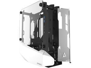 Antec STRIKER Aluminum and Steel ITX Computer Case, Front GPU Mount, Up to 4 x 120 mm Fan Support, USB 3.1 Type-C ready and PCI-E Riser Included