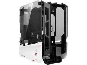 Antec Striker Phantom Gaming Aluminum and Steel ITX Computer Case, Front GPU Mount, Up to 4 x 120 mm Fan Support, USB 3.1 Type-C Ready and PCI-E Riser Included, AsRock Special Edition