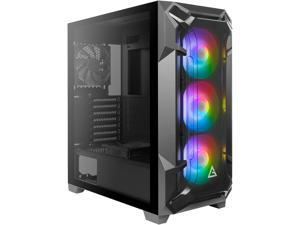 Antec Dark League DF600 FLUX, FLUX Platform, 3 x 120 mm ARGB, 1 x 120 mm Reverse & 1 x 120 mm Fans Included, Tempered Glass Side Panel, 2 x USB3.0, 360 mm Radiator Support, Mid Tower ATX Gaming Case