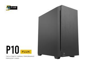 """Antec P10 FLUX, F-LUX Platform, 5 x 120mm Fans Included, Reversible & Swing-Open Front Panel, Air-Concentrating Filter, 5.25"""" ODD, Fan-Speed Control, Sound-Dampening Side Panels, Mid-Tower Silent Case"""