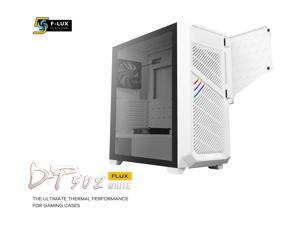 """Antec Dark League DP502 FLUX White, Mid-Tower ATX Gaming Case, FLUX Platform, 5 x 120mm Fans Included, PWM Fans with Controller, 5.25"""" ODD Support, Tempered Glass Side Panel, Swing Open Front Panel"""