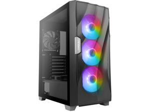 Antec Dark Fleet DF700 FLUX, Mid Tower ATX Gaming Case, Tempered Glass Side Panel, Three-Dimensional Wave-Shaped Mesh Front Panel, F-LUX Platform, 3 x 120 mm ARGB, 1 x 120 mm Reverse & 1 x 120 mm Fans