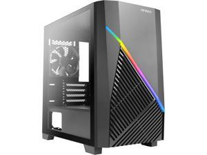Antec Constellation Series Draco 10 Mini-Tower M-ATX Gaming Case, Full-Sized GPU Compatibility, Massive Air Intakes, ARGB Lighting Bar & 6 x 120mm Fan Support