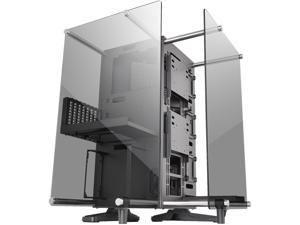 Thermaltake Core P90 Black Mid Tower Tempered Glass Open Frame Viewing Tt LCS Certified Gaming Computer Case CA-1J8-00M1WN-00