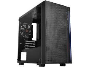 Thermaltake Versa H18 Tempered Glass Black SPCC Micro ATX Gaming Computer Case CA-1J4-00S1WN-01