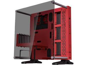 Thermaltake Core P3 TG Red ATX Open Frame Panoramic Viewing Tt LCS Certified Gaming Computer Case CA-1G4-00M3WN-03