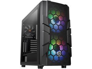 Thermaltake Commander C33 Motherboard Sync ARGB ATX Mid Tower Computer Chassis with 2x 200mm ARGB 5V Motherboard Sync RGB Front Fans + 1x 120mm Rear Black Fan Pre-installed CA-1N4-00M1WN-00