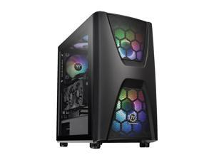 Thermaltake Commander C34 Motherboard Sync ARGB ATX Mid Tower Computer Chassis with 2x 200mm ARGB 5V Motherboard Sync RGB Front Fans + 1x 120mm Rear Black Fan Pre-installed CA-1N5-00M1WN-00