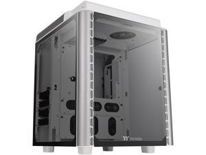 Thermaltake Level 20 HT Snow Edition 4 Tempered Glass Type-C Fully Modular E-ATX Full Tower Computer Chassis with 2 x 140mm Top Fan Pre-Installed CA-1P6-00F6WN-00