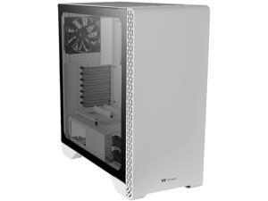 Thermaltake S300 Tempered Glass Snow Edition ATX Mid-Tower Computer Case with 120mm Rear Fan Pre-Installed CA-1P5-00M6WN-00