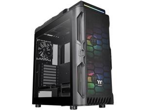 Thermaltake Level 20 RS Motherboard Sync ARGB ATX Mid Tower Gaming Computer Case with 2 200mm ARGB 5V Motherboard Sync RGB Fans + 140mm Black Rear Fan Pre-Installed CA-1P8-00M1WN-00