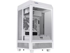 Thermaltake Tower 100 Snow Edition Tempered Glass Type-C (USB 3.1 Gen 2) Mini Tower Computer Chassis Supports Mini-ITX, CA-1R3-00S6WN-00