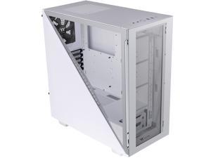 Thermaltake Divider 300 Snow Triangular Tempered Glass Type-C (USB 3.1 Gen 2) Water Cooling Ready ATX Mid Tower Computer Case, CA-1S2-00M6WN-00