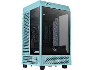 Thermaltake Tower 100 Turquoise Edition Tempered Glass Type-C (USB 3.2 Gen 2) Mini Tower Computer Chassis Supports Mini-ITX CA-1R3-00SBWN-00