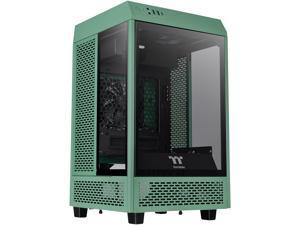 Thermaltake Tower 100 Racing Green Edition Tempered Glass Type-C (USB 3.2 Gen 2) Mini Tower Computer Chassis Supports Mini-ITX CA-1R3-00SCWN-00
