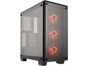 Corsair Crystal Series 460X RGB CC-9011101-WW Black ATX Mid Tower Tempered Glass Computer Case